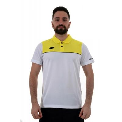 R8900 Lotto Pedro Kamp Tişörtü Beyaz Sarı