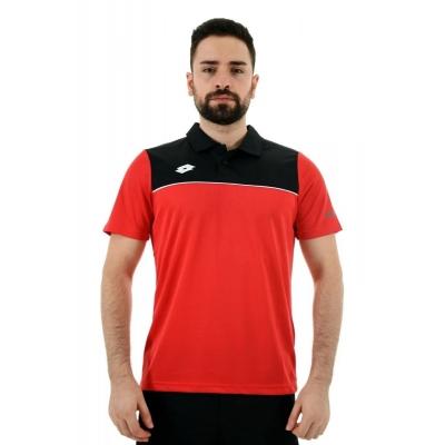 R8902 Lotto Pedro Kamp Tişörtü Kırmızı Siyah