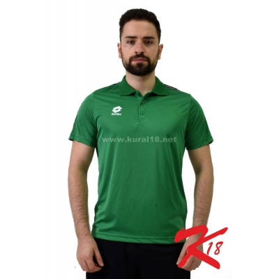 R8944 Lotto Athletica Polo Yaka Tişört Yeşil