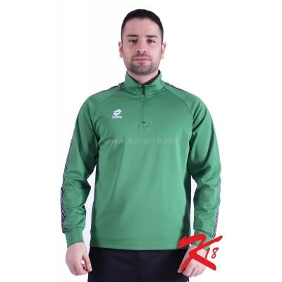 R8963 Lotto Athletica Antrenman Eşofmanı Tek Üst Yeşil